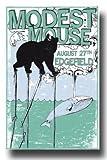 Modest Mouse Concert Edegfield Concert Art Print — Concert Memorabilia — 11x17 Poster, Vibrant Color, Features Isaac Brock, Jeremiah Green and Eric Judy.