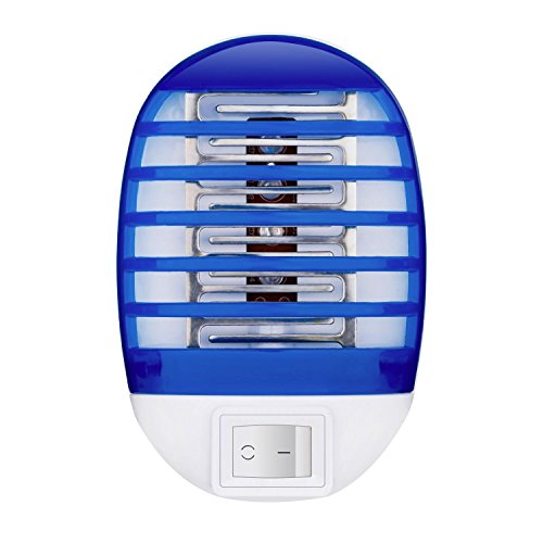 Rinuo Indoor Bug Zapper with Night Lamp, Mini Electronic Insect Killer, Mosquito Killer, Eliminates Flying Pests!