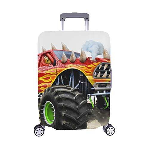 Cartoon Monster Truck Spandex Trolley Case Travel Luggage Protector Suitcase Cover 28.5 X 20.5 Inch(only Dust Cover) ()