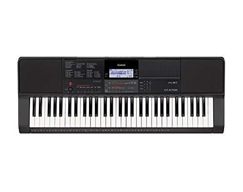 Casio CTX700 61-Key Touch Sensitive Portable Keyboard with Power Supply by Casio