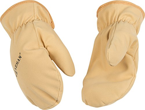 Kinco 1930-C-1 Soft & Durable Ultra Suede, Easy-On Cuff with Elastic Wrist, Ergonomic Wing Thumb, Thermal Fleece Lining, Size: C (Child's Ages 3-6)