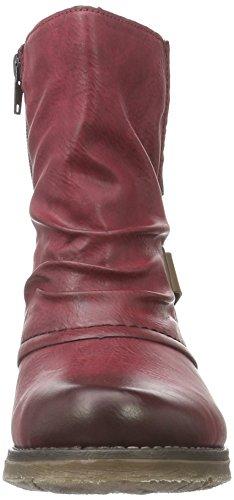 Rieker 79682, Botines para Mujer Rojo (wine/mogano / 35)