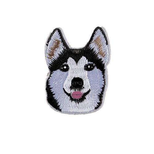Ximkee(10 Pack) Husky Alaskan Malamute Dogs Sew Iron On Embroidered Patches Appliques