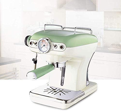 HYLH Machine à Expresso, Design rétro, consommation électrique de 900 W, Pression de 15 Bars, réservoir d'eau Amovible de 0,9 L, buse à Vapeur, Affichage de la température