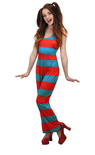elope Dr. Seuss Cat in The Hat Thing 1 and Thing 2 Jumpsuit for Women (L/XL) ()