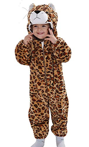 (Unisex-Baby Animal Onesie Costume Cartoon Outfit Homewear(Leopard02 100:Ages 18-24)