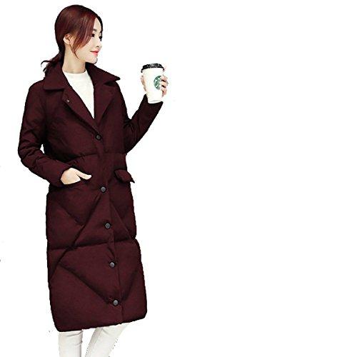 Imbottito Piumino Donne Nihiug Signora Piumino Calore Della Sezione Un Il Liberamente Cappotto Inverno Lunga Outwear qEEtzg