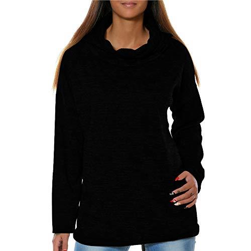 Sunhusing Ladies Solid Color Bat Long Sleeve Stacked Neck Hooded T-Shirt Sweatshirt Top -