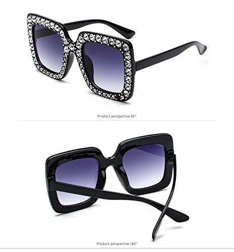 49cc70b8cee Prime Sale Day Deals Week 2018-Sunglasses Women Oversized Square Crystal  Diamond
