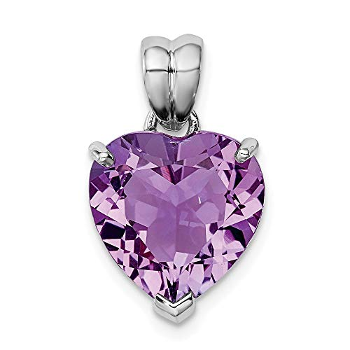 - 925 Sterling Silver Purple Amethyst Pendant Charm Necklace Gemstone Fine Jewelry Gifts For Women For Her