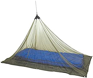 Single Mosquito Camping and Travel Net by Mozzie Master, 100% Polyester, Compact and Lightweight, Fits Most Sleeping Bags, cots, and Tents (Black)