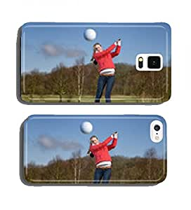 Golfer kicks off on golf course cell phone cover case Samsung S4