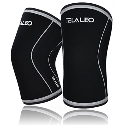 UPC 614631008948, TELALEO Knee Sleeves (1 pair), 7mm Thick Compression Knee Braces Offer Strong Support for Heavy-lifting, CrossFit, Squats, Gym and Other Sports-L