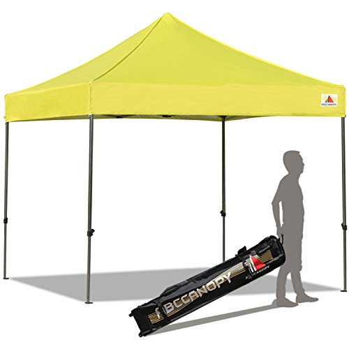 ABCCANOPY Pop up Canopy Tent Commercial Instant Shelter with Wheeled Carry Bag, 10x10 FT Lemon