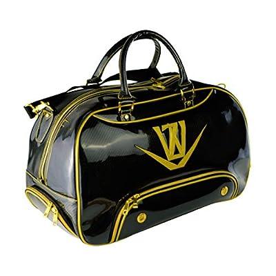 Japan WaZaki Black Gold Turf Line Waterproof Classic Duffle Golf Bag with Pockets(50X25X30 CM3)