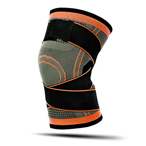Compression Knee Sleeve Brace with Side Straps – Knee Brace Pads Support for Men & Women – 1 Pcs (Universal Size)