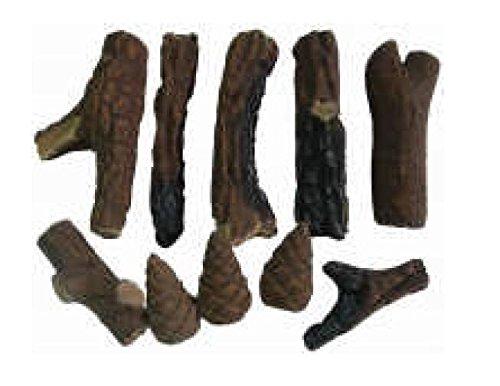 Amazon.com: hmleaf 10 piezas Juego wood-like Chimenea Logs ...