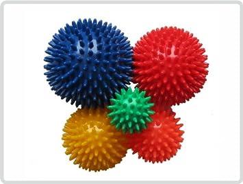Massageball Noppenball Lacrosse Ball Igelball 6cm 10cm rot Sport Gymnastik Reha