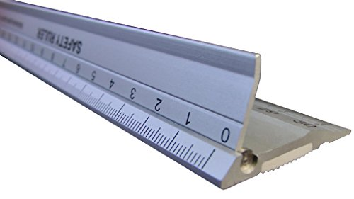 Safety Ruler Cutting Straight Edge - Metal Crafting Ruler 45 cm (18 inch) Craft Safety Measurements | Paper, Fabric, Leather, Scrapbooking, Quilting | Supports Measuring and Cutting DIY Art Projects and Crafting
