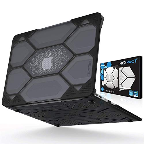 IBENZER Hexpact MacBook Air 11 Inch Case, Heavy Duty Protective Hard Case Shell Cover for Apple MacBook Air 11 A1370 A1465, Black LC-HPE-A11CYBK