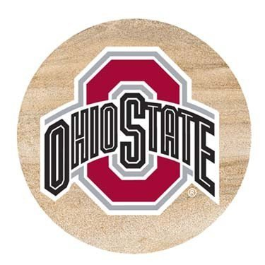 (Thirstystone Natural Sandstone Set of 4 Coasters Ohio State University)