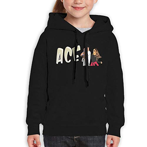 Youth Hooded Sweatshirt ACE Family Personalized Fashion Customization Black M