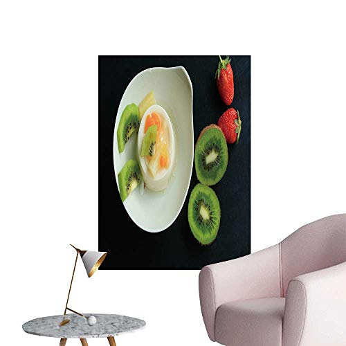 (SeptSonne Wall Stickers for Living Room Tasty Kiwi Fruit pud Vinyl Wall Stickers Print,28