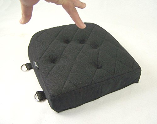 Motorcycle Passenger Back Seat Detachable Gel Pad With memory Foam Black