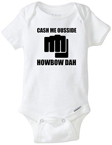 Cash Me Ousside Howbow Dah Funny Baby Onesie Blakenreag Baby Boy Girl Clothes (12 - Onesie Cash