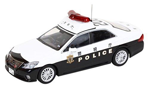 1/43 トヨタ クラウン (GRS200) 2011 警視庁地域部自動車警ら隊車両(ホワイト×ブラック) H7431107