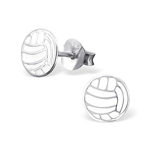 Volleyball Sterling Silver 925 Ear Studs Girls Jewelry Gifts Girls - Sterling Silver Volleyball