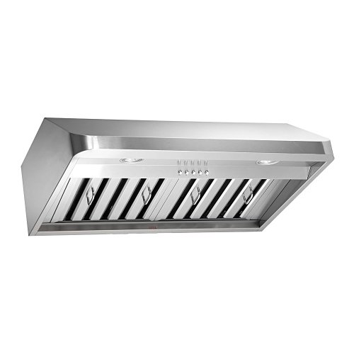 KOBE Range Hoods CHX9130SQB-1 Brillia Under Cabinet Range Hood 680 CFM Stainless Steel with LED Lights, 30-Inch