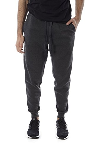 Vertical sport Men's fleece Jogger (Ch- Grey, X-Large) (Thrill Athletic Fit Pant)