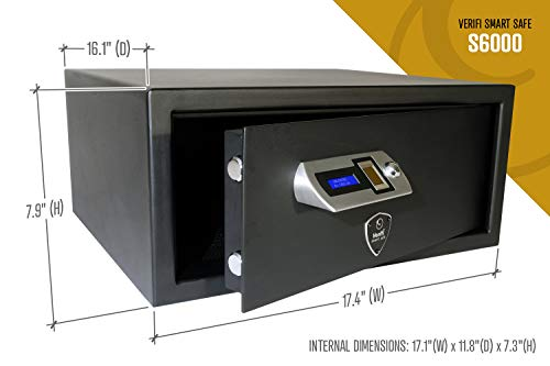 Verifi Smart.Safe. S6000 Biometric Gun Safe with FBI Certified Fingerprint Sensor, Self-Diagnostics, Tamper Alerts and AutoLock