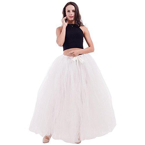 Adult Puffy Long Tutu Tulle Skirt 100cm Floor Length Women Wedding Skirts