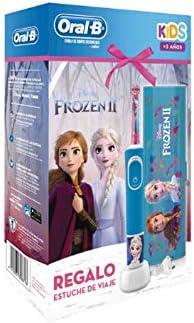 Oral B - Cepillo Eléctrico - Oral-B Kids Frozen Ii, Para Niños, Estuche De Regalo, 4 Pegatinas De Frozen, Cepillado 3D: Amazon.es: Salud y cuidado personal