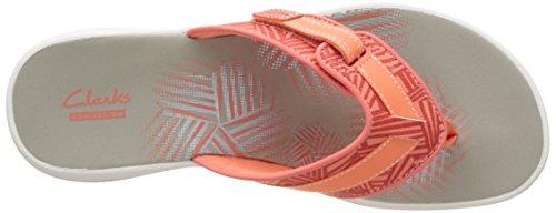 Clarks Damen Brinkley Quade Zehentrenner Orange (Coral)