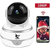 Wireless 1080P Security Indoor Camera WiFi HD Home Surveillance IP Camera with Real-time Activity Alerts Two-Way Audio Night Vision Baby Cam Panorama View for Infant/Elder/Pet/Office