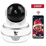 Wireless 1080P Security Indoor Camera WiFi HD Home Surveillance IP Camera with Real-time Activity Alerts Two-Way Audio Night Vision Baby Cam Panorama View for Infant/Elder/Pet/Office Review