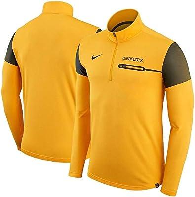 406b8a7a44e0 Amazon.com  Nike Oregon Webfoots Yellow Elite Coaches Sideline 1 2-Zip  Jacket 34706XOD4 SZ L  Sports Collectibles