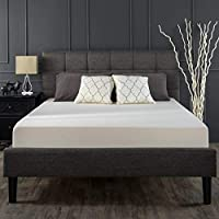 Zinus Fabric Queen Bed Frame Square Stitched - Dark Grey
