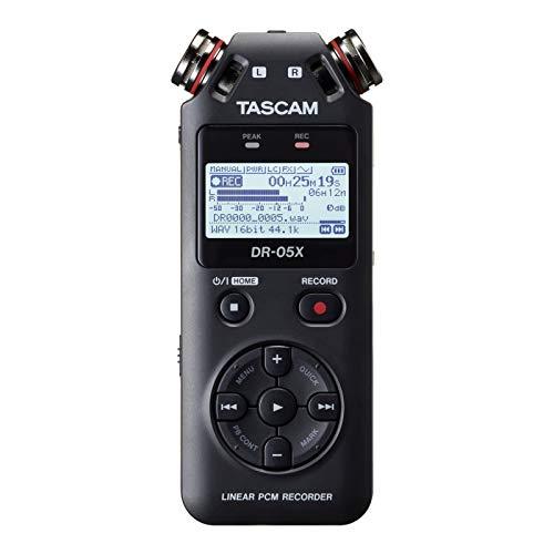 [해외]TASCAM 타스 캄-USB 오디오 인터페이스 내장 스테레오 리니어 PCM 레코더 DR-05X / TASCAM Taskham - Stereo Linear PCM Recorder DR-05X with USB Audio Interface