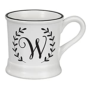 Occasionally Made O-HSM-MUG-W 14 oz Monogram W Ceramic Mug