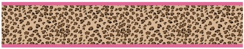 Sweet Jojo Designs Cheetah Girl Pink and Brown Baby, Kids and Teens Wall Paper Border