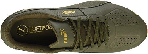 Puma Menns Celle Surin 2 Premie Sneaker Oliven Natt-gull