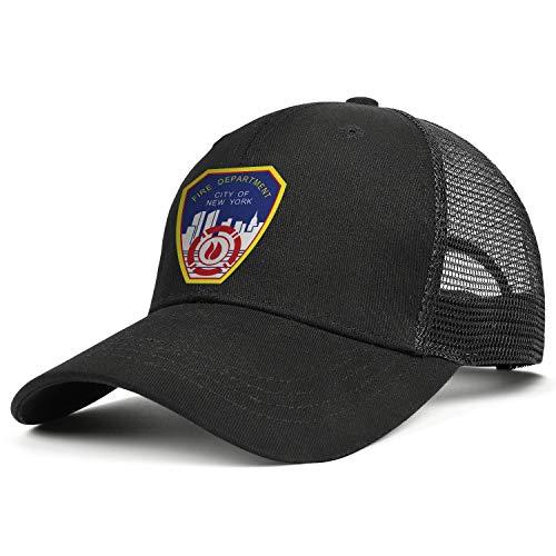 DXQIANG Fire Department City of New York Unisex Trendy Mesh Snapback Cap Lightweight Adjustable Sun Hats