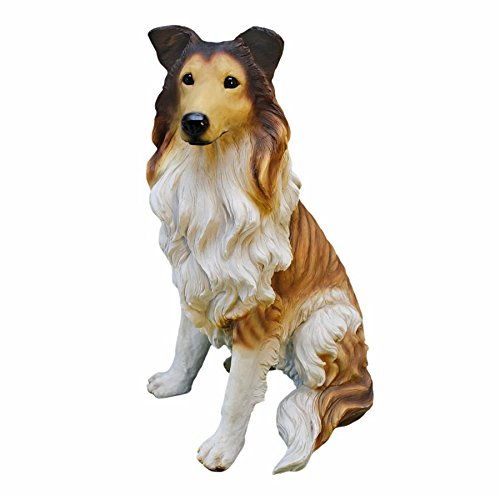 Design Toscano Long-Haired Collie Dog Statue (Dog Cast Stone)
