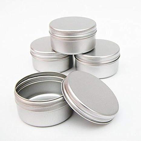 Shumo 12 X 50 Ml Pots /à Maquillage En Aluminium 50 Ml Capacit/é Vide Petit Cosm/étique//Bougie//Pots /à /épices Boites de Conserves Bocaux