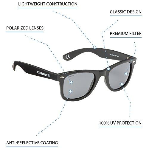 gris UV Protección Unisex claro negro 100 Gafas Premium Sol Adulto de Cressi Polarizadas TwPWUqRz6x
