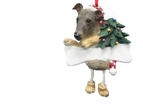 - Greyhound Ornament Brindle with Unique
